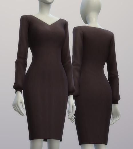 Chiffon blouse dress at Rusty Nail image 212 Sims 4 Updates