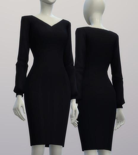 Chiffon blouse dress at Rusty Nail image 214 Sims 4 Updates