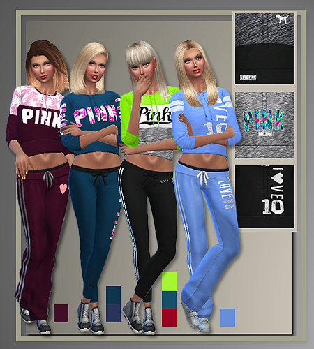 Pink Athletics Judie All Style Sims Updates