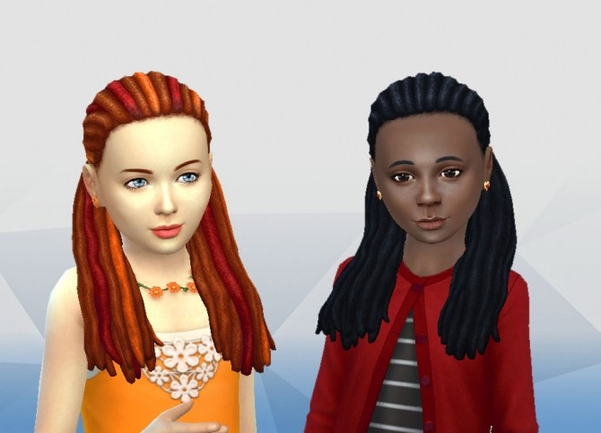 Dread Half Up for Girls at My Stuff image 21410 670x483 Sims 4 Updates