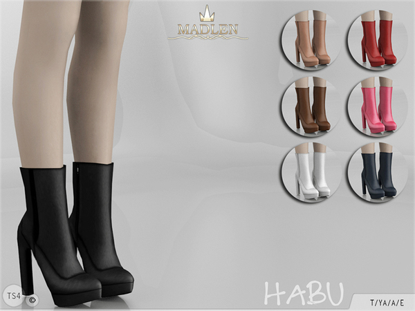 Sims 4 Madlen Habu Boots by MJ95 at TSR