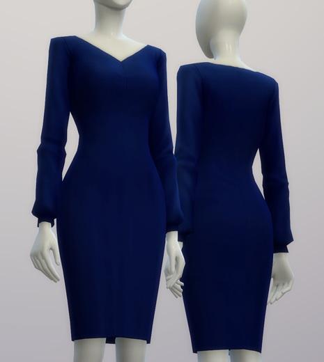 Chiffon blouse dress at Rusty Nail image 215 Sims 4 Updates