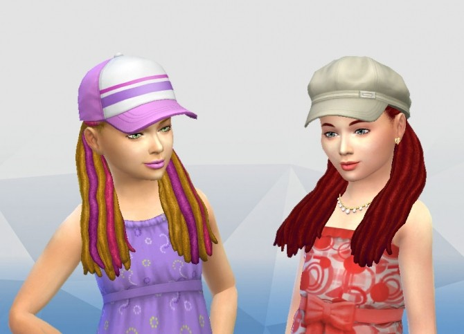 Dread Half Up for Girls at My Stuff image 2156 670x483 Sims 4 Updates