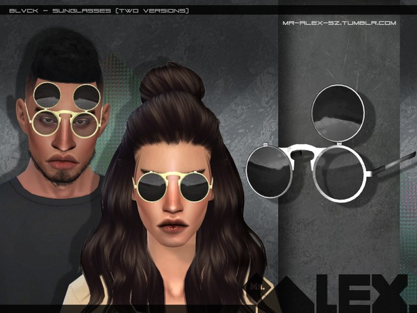 Blvck sunglasses (two versions) by Mr.Alex at TSR image 2157 Sims 4 Updates