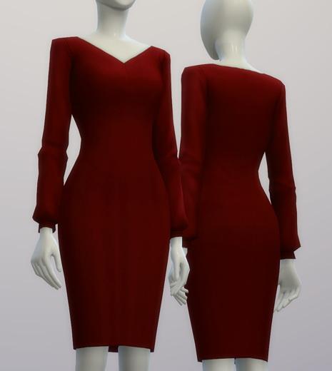 Chiffon blouse dress at Rusty Nail image 216 Sims 4 Updates