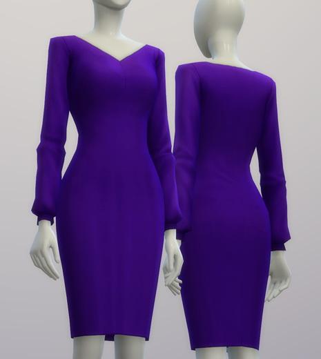 Chiffon blouse dress at Rusty Nail image 217 Sims 4 Updates