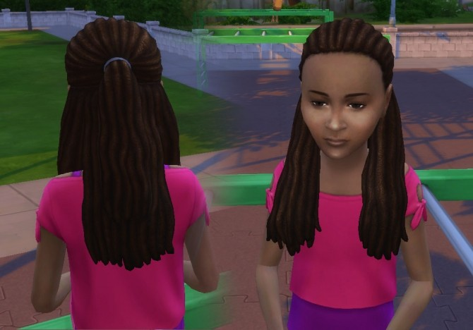 Dread Half Up for Girls at My Stuff image 2176 670x468 Sims 4 Updates