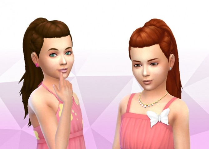 Pony TriBraids for Girls at My Stuff image 22111 670x477 Sims 4 Updates