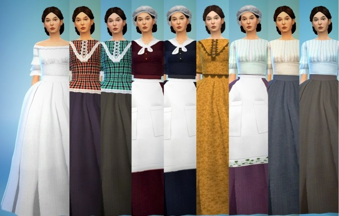 Recolors of Kiara's civil war dress at Budgie2budgie image 22113 670x428 Sims 4 Updates