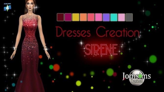 Sims 4 SIRENE dress by Jomsims at Khany Sims