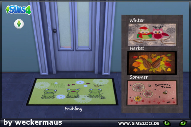 Seasons doormats by Weckermaus at Blacky's Sims Zoo image 223 Sims 4 Updates