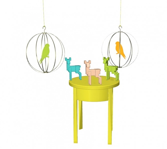 TS4 Ikea Set: Birdcage, Deer, EndTable at Helen Sims image 226 670x600 Sims 4 Updates