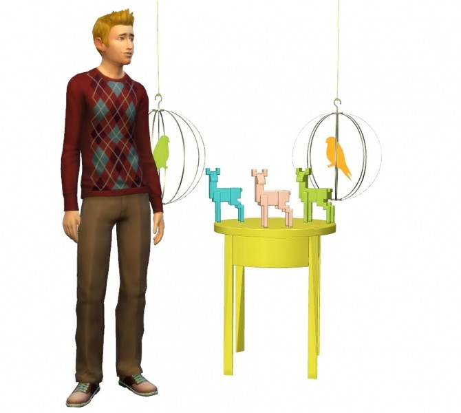 TS4 Ikea Set: Birdcage, Deer, EndTable at Helen Sims image 227 670x600 Sims 4 Updates