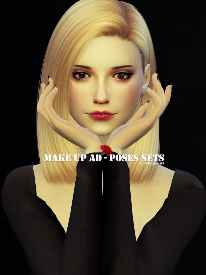 Sims 4 MAKE UP AD POSES SET at Flower Chamber