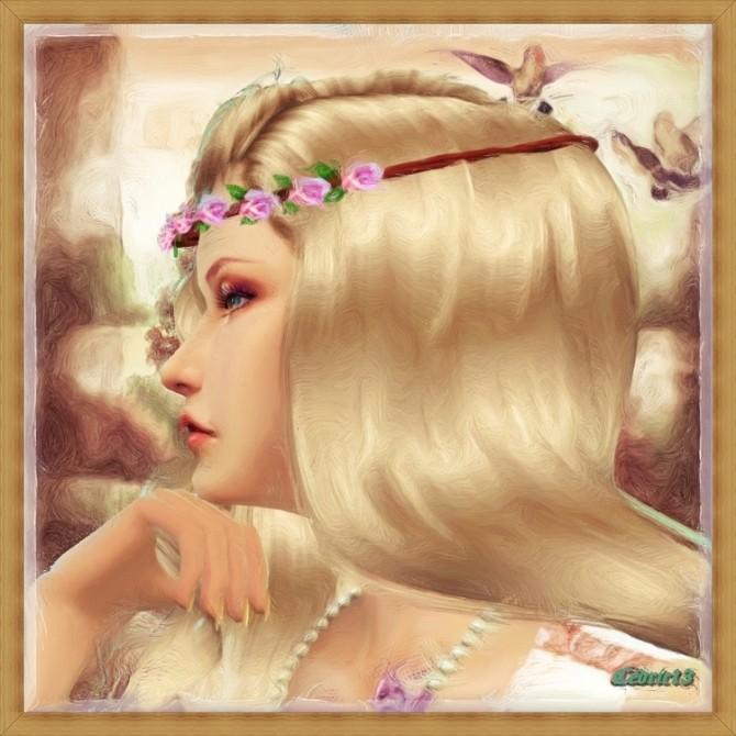Sims 4 Arabelle painting at L'univers de Nicole