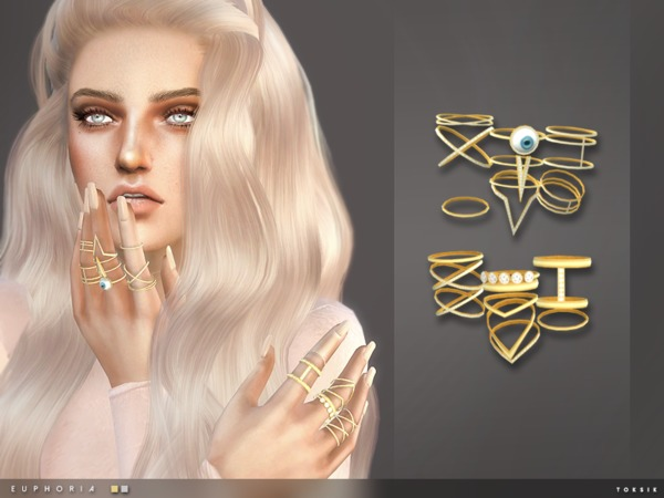 Euphoria Rings By Toksik At Tsr 187 Sims 4 Updates