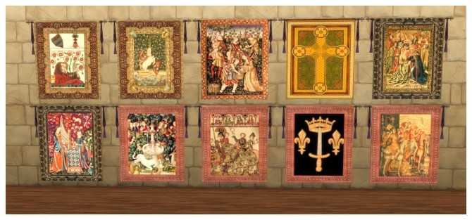 73 Medieval wall tapestries at SimDoughnut image 2331 670x313 Sims 4 Updates