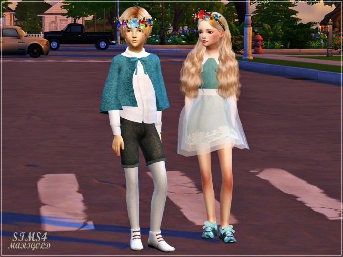 Sims 4 Child Flower Crown at Marigold