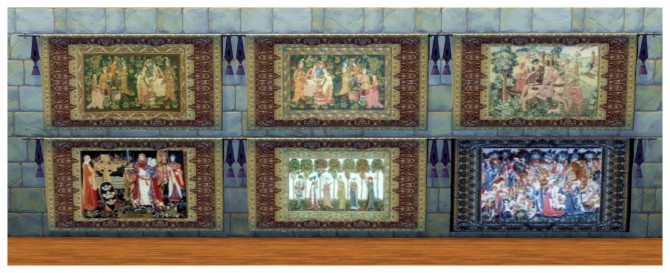 73 Medieval wall tapestries at SimDoughnut image 2351 670x273 Sims 4 Updates
