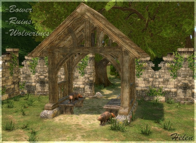 Sims 4 Mixed Collection: bower, ruines, wolverines at Helen Sims