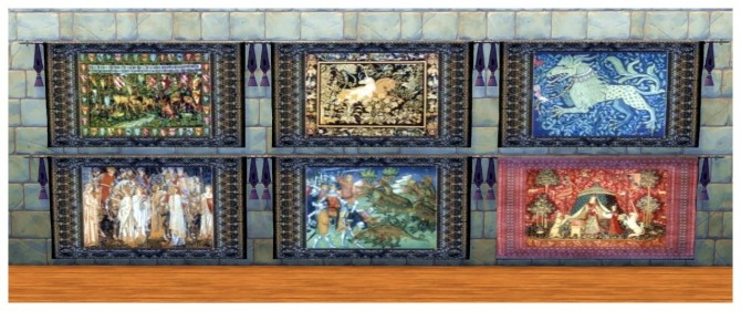 73 Medieval wall tapestries at SimDoughnut image 2361 670x281 Sims 4 Updates