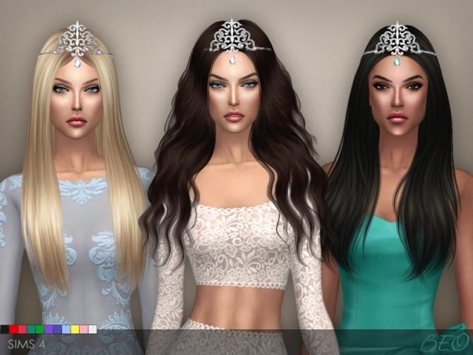 Sims 4 TIARA CRYSTAL DROP at BEO Creations