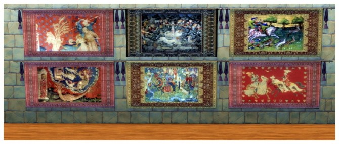 73 Medieval wall tapestries at SimDoughnut image 2371 670x285 Sims 4 Updates