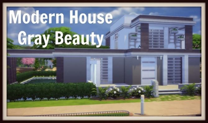 Sims 4 Modern House (Gray Beauty) at Dinha Gamer