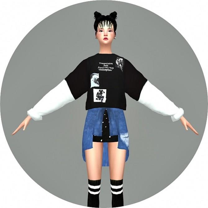 Sims 4 Batwing Sleeve Sweatshirt V2 at Marigold