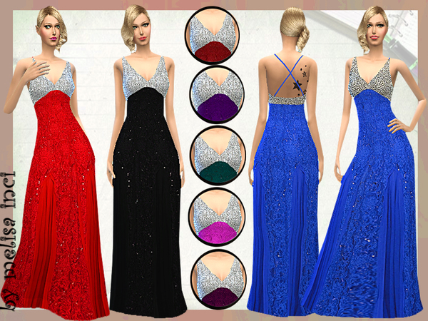 Sleeveless Evening Gown by melisa inci at TSR image 2418 Sims 4 Updates