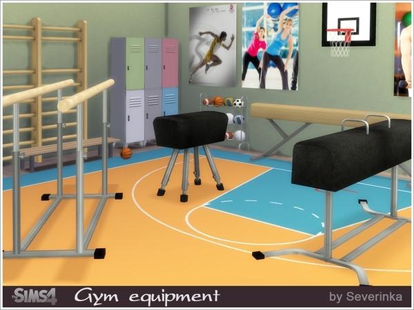 Sims 4 Gym equipment set by Severinka at TSR
