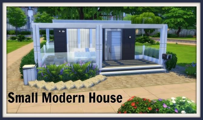 Sims 4 Small Modern House at Dinha Gamer