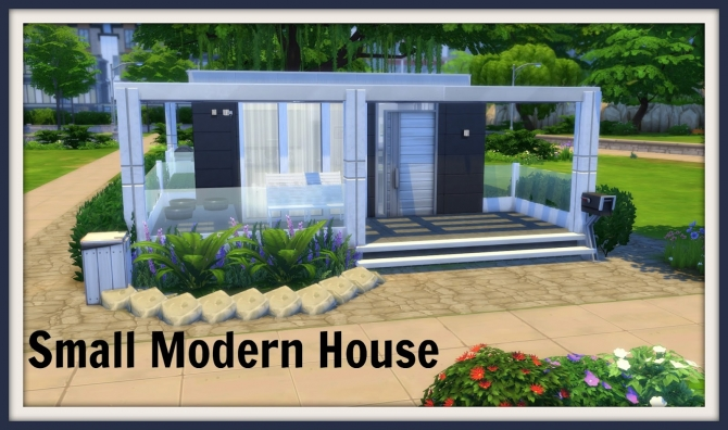Small Modern House At Dinha Gamer Sims 4 Updates
