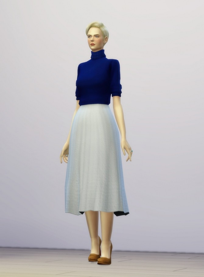 Half Sleeve Turtleneck Sweater Dress At Rusty Nail 187 Sims