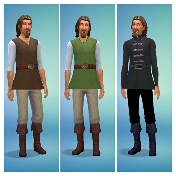 Medieval Male Shirts at SimDoughnut image 2463 670x670 Sims 4 Updates