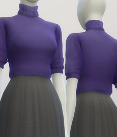 Half Sleeve Turtleneck Sweater Dress At Rusty Nail 187 Sims