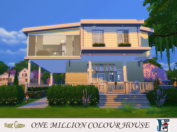 Sims 4 One million colour House by Evi at TSR