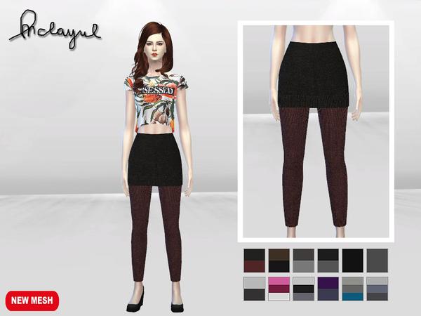 Sims 4 Korean Skirt With Leggings by McLayneSims at TSR