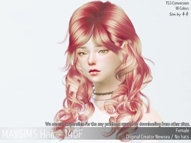 Sims 4 Hair 140F (Newsea) at May Sims