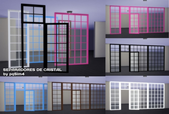 Sims 4 Glass divider by Mary Jimenez at pqSims4