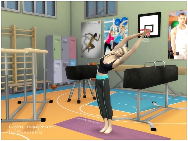 Gym equipment set by severinka at tsr sims updates