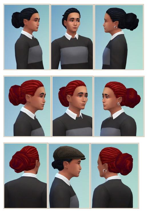 Sims 4 Big Bun Dreads males at Birksches Sims Blog