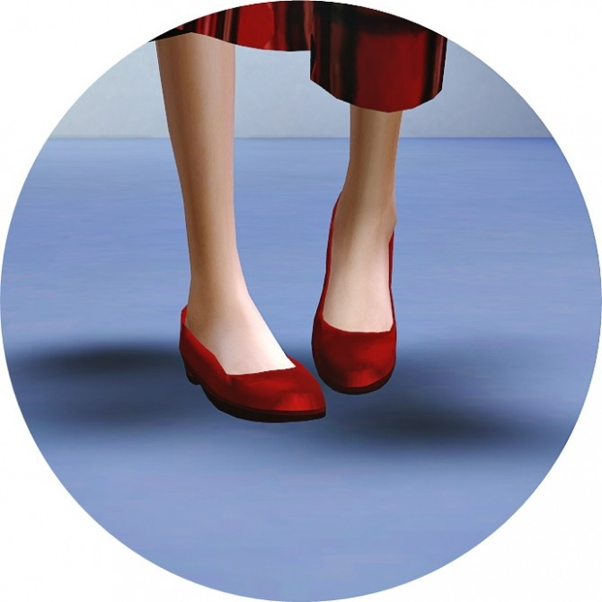 Sims Maxis Match Flat Shoes