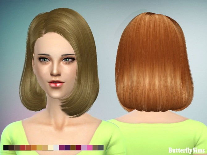 Sims 4 B fly hair AF150 No hat (FREE) at Butterfly Sims