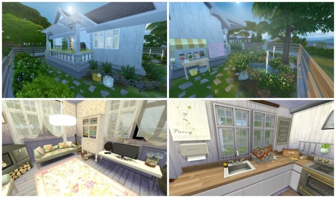 Sims 4 Little Cottage at Dinha Gamer