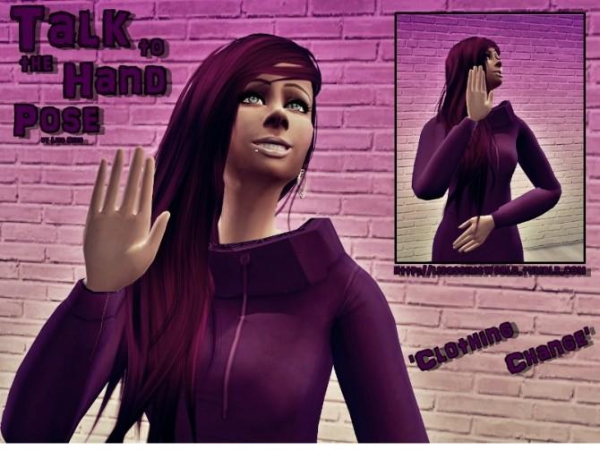 Sims 4 TALK to the HAND Pose at Lisa Sims