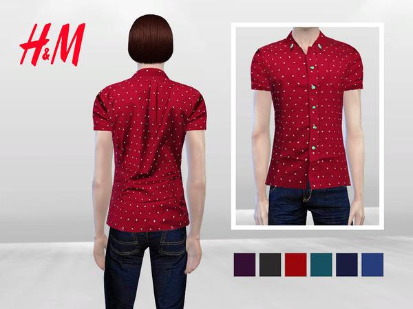 Sims 4 Tuscani Formal Shirt by McLayneSims at TSR