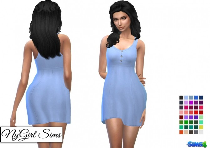 Buttoned Babydoll Dress at NyGirl Sims image 2629 670x473 Sims 4 Updates