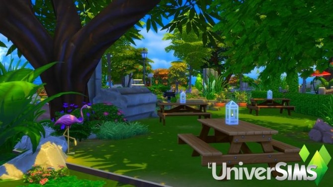 Sims 4 Windenburg park by chipie cyrano at L'UniverSims