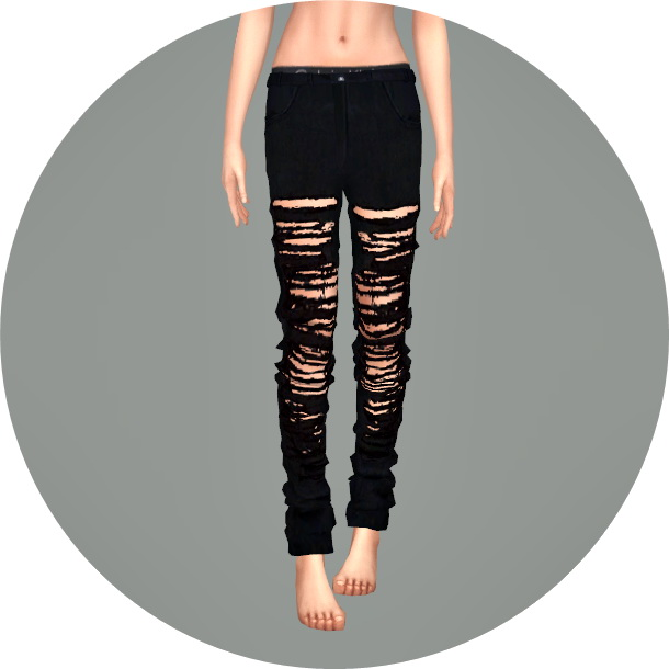 Sims 4 Ripped Pants Loose Fit at Marigold